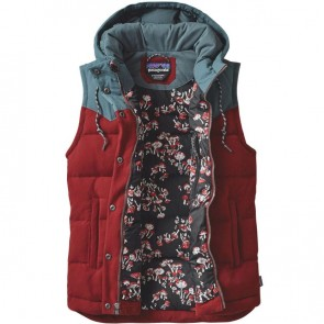 Patagonia Women's Bivy Down Hooded Vest - Drumfire Red