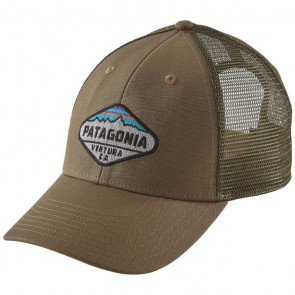 Patagonia Fitz Roy Crest LoPro Trucker Hat - Ash Tan