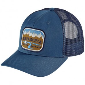 Patagonia Pointed West Trucker Hat - Glass Blue