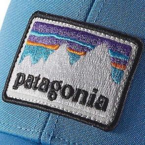 Patagonia Shop Sticker Patch LoPro Trucker Hat - Radar Blue