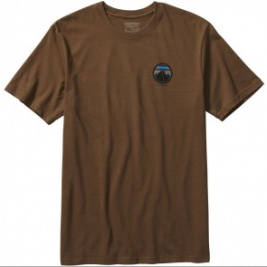 Patagonia Rivet Logo T-Shirt - Timber Brown