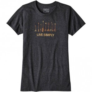 Patagonia Women's Live Simply Quiver T-Shirt - Black