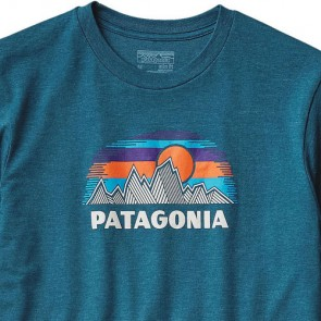 Patagonia Woven Fitz Roy T-Shirt - Deep Sea Blue