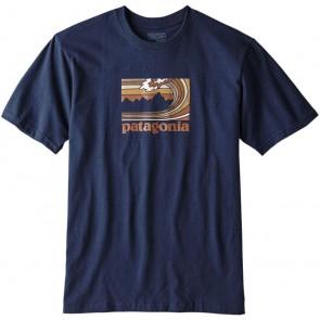 Patagonia Framed Fitz Roy Responsibili T-Shirt - Navy Blue