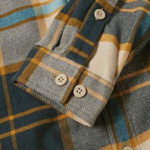 Patagonia Fjord Long Sleeve Flannel - Sugar Pine/El Cap Khaki