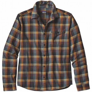 Patagonia Fjord Long Sleeve Lightweight Flannel - Navigate/Tapenade