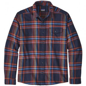 Patagonia Fjord Long Sleeve Lightweight Flannel - Watershed/Navy