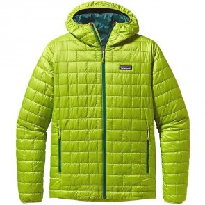 Patagonia Nano Puff Hooded Jacket - Peppergrass Green