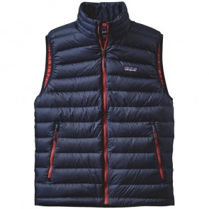 Patagonia Down Sweater Vest - Navy Blue/Ramble Red