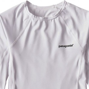 Patagonia Wetsuits Women's R0 Long Sleeve Rash Guard - White