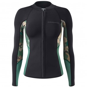 Patagonia Wetsuits Women's R1 Lite Yulex Front Zip Jacket - Cloudbreak/Hemlock Green