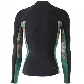 Patagonia Wetsuits Women's R1 Lite Yulex Front Zip Jacket - Cloudbreak/Hemlock Green