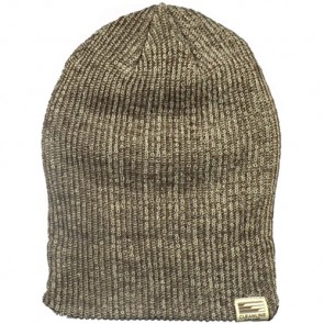 Cleanline Beanie - Brown/White