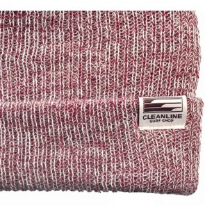 Cleanline Beanie - Burgundy/White