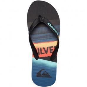 Quiksilver Youth Molokai Slash Sandals - Black/Orange/Blue