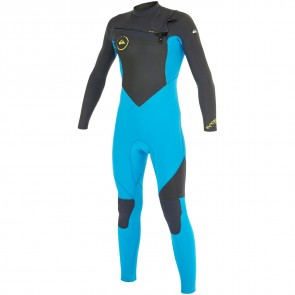 Quiksilver Youth Syncro 3/2 Chest Zip Wetsuit - Graphite/Cyan