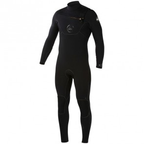 Quiksilver Cypher 3/2 Chest Zip Wetsuit - Black