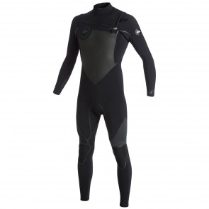 Quiksilver Syncro LFS 4/3 Chest Zip Wetsuit - Black/Graphite