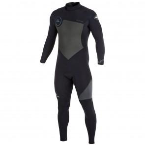 Quiksilver Syncro 4/3 Back Zip Wetsuit - Black/Graphite