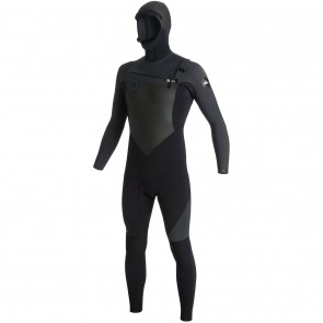Quiksilver Syncro 5/4/3 Hooded Chest Zip Wetsuit - Black/Graphite