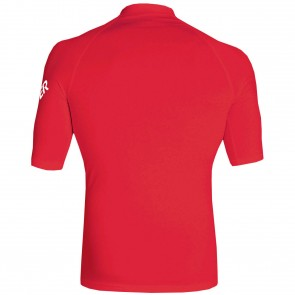 Quiksilver Wetsuits All Time Short Sleeve Rash Guard - Red
