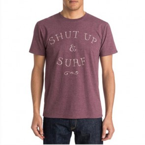 Quiksilver Just Surf T-Shirt - Plum Wine/Heather
