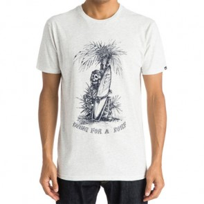 Quiksilver Dying For A Surf T-Shirt - Snow White Heather