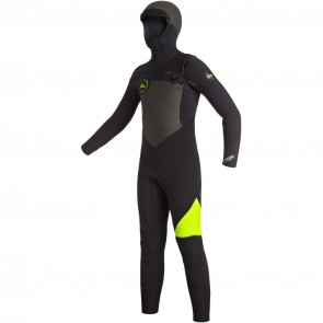 Quiksilver Youth Syncro 5/4/3 Hooded Wetsuit - Black