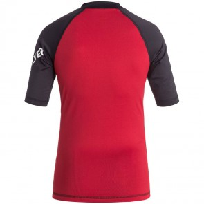 Quiksilver Wetsuits Youth All Time Rash Guard - Red/Black