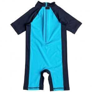Quiksilver Wetsuits Toddler Bubble Rash Spring Suit - Blue Danube/Navy Blazer