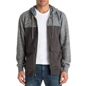 Quiksilver Civil Aire Zip Hoodie - Dark Grey Heather
