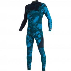 Quiksilver Highline Tie Dye 3/2 Zipperless Wetsuit - Navy Blazer