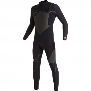Quiksilver Syncro Plus 3/2 Chest Zip Wetsuit - Black