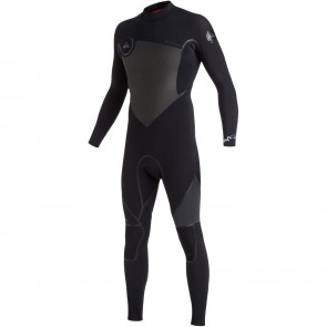 Quiksilver Syncro Plus 4/3 Back Zip Wetsuit - Black