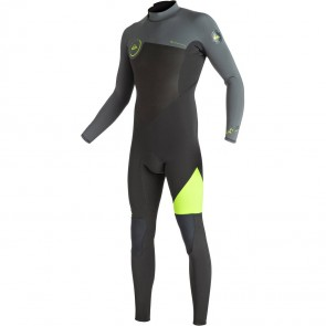 Quiksilver Syncro 3/2 Flatlock Back Zip Wetsuit - Safety Yellow