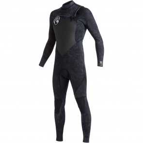 Quiksilver Syncro High Dye 3/2 Chest Zip Wetsuit - Black