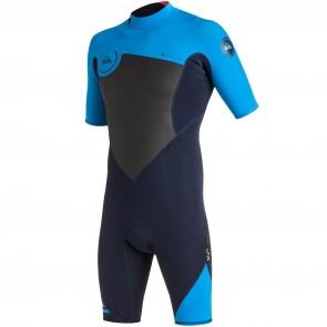Quiksilver Syncro 2mm Short Sleeve Spring Wetsuit - Navy Blazer