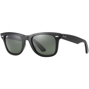 Ray-Ban Original Wayfarer Classic Polarized Sunglasses - Black/Crystal Green