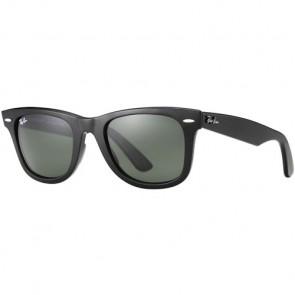 Ray-Ban Original Wayfarer Classic Polarized Sunglasses - Black/Crystal Green