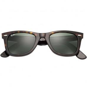 Ray-Ban Original Wayfarer Classic Polarized Sunglasses - Tortoise/Crystal Green