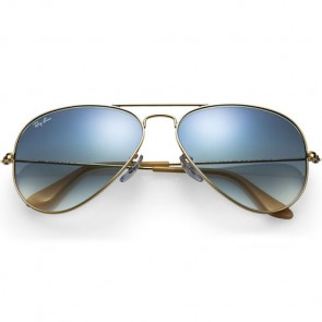 Ray-Ban Aviator Sunglasses - Gold/Crystal Light Blue Gradient
