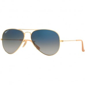 Ray-Ban Aviator Classic Polarized Sunglasses - Gold/Blue Gradient
