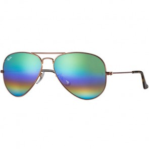 Ray-Ban Aviator Sunglasses - Metallic Medium Bronze/Rainbow