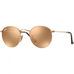 Ray-Ban Round Metal Sunglasses - Shiny Gold/Copper Flash