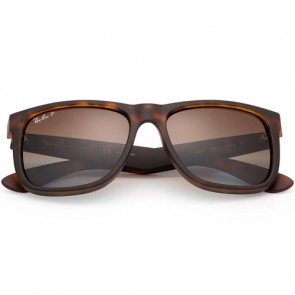 Ray-Ban Justin Polarized Sunglasses - Havana Rubber/Brown Gradient