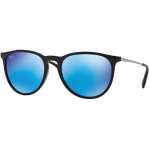 Ray-Ban Erika Sunglasses - Black/Light Green/Mirror Blue
