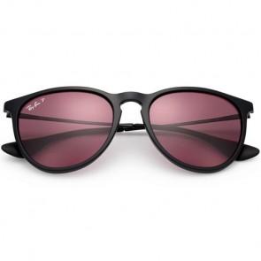 Ray-Ban Erika Polarized Sunglasses - Black/Violet Mirror