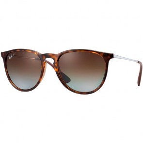 Ray-Ban Erika Polarized Sunglasses - Havana/Brown Gradient