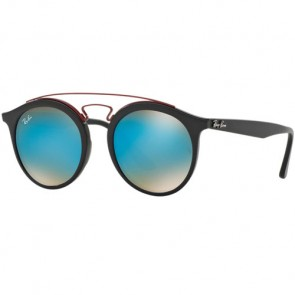 Ray-Ban RB4252 Sunglasses - Matte Black/Mirror Gradient Blue
