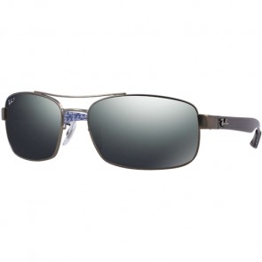 Ray-Ban RB8316 Polarized Sunglasses - Matte Gunmetal/Grey Mirror Gradient